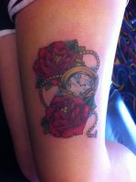 roses and pocket watch by FIZZINK