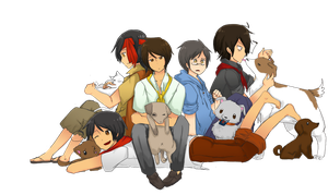 Hetalia:THE PHILIPPINES + dogs by Putobingka