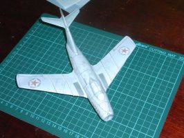 MiG-15 1:48 scale paper model by Gustsav-mkIII