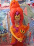 My Needle Felted Flame Princess by CatsFeltLings