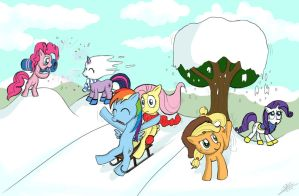 My little pony - Winter is magic by Dori-to