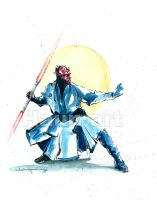 darth Maul watercolor sketch by JohnHaunLE