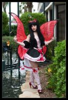 Red Fairy - Beauty and the Butterflies by Kuragiman