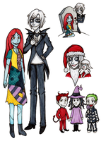 The Nightmare Before Christmas Drawings by OtakuRose