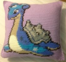 Lapras Sprite Pillow by Onlera