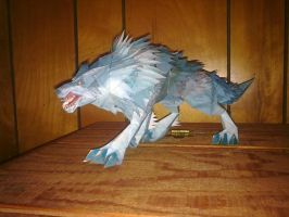 Papercraft Wolf Warcraft by CalleStar