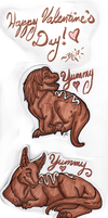 Chocolate Badges for V-day by BGArts