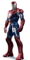 IRON PATRIOT 3D by kcireseyer