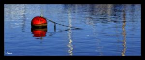 red bouy by awjay
