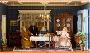 Dollshouse diningroom by SarahharaS1