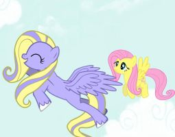 Flutterly flying with Fluttershy by LovelyLeoKika