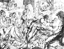Streetfighter VS Zombies by alfred183