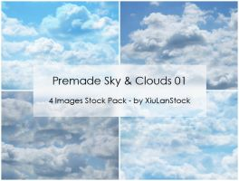 Premade Sky and Clouds Stock Pack 01 by XiuLanStock