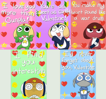 Keroro Valentines by YellowHellion