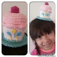 Cupcake birthday hat for my baby by jelc85