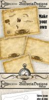 Assemble your own Treasure Map by VectoriaDesigns