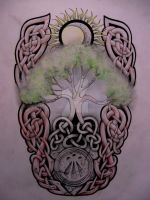 Tree of life tattoo design by knotty-inks