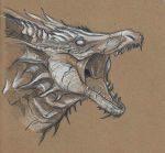 Dragon Sketch by GarlicEyes