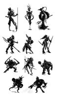 Character Silhouettes by Sun-mist