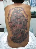 Old School Ship by micaeltattoo