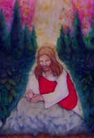 Study of Christ in Gethsemane by eruthart