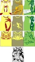 summer muscle shirt samples by karlonne