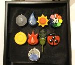 Pokemon Badges, That's right by HIDDENintheIVY