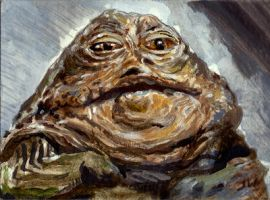 Jabba The Hutt Sketch Card by Stungeon