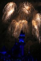 Disneyland Fireworks II by overexxxposed