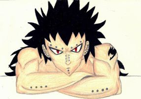 Gajeel Colored Pencil by TaminFury