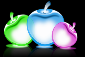 Glowing apples by HelenLight