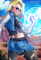 ANDROID 18! by StretchNSin
