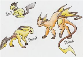 Pikachu Evolution Series X by CelestialTentails