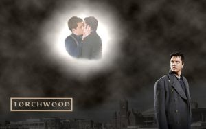 Wallpaper - Jack and Ianto (Torchwood) by mirabelle25