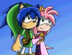 Sonic/Link And Amy/Zelda by sonamy244