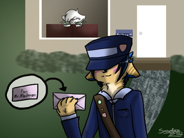 Anthro Challenge: Thank you Mr.Mailman by Snowstorm102