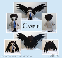 Supernatural - Castiel plushie large version by caycowa