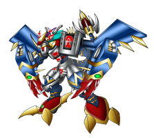 AZUL WARGREYMON by neoarchangemon
