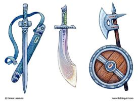 Fantasy Weapons by emla