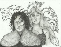 SNOW AND TARGARYEN by Maiasm