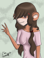 Day 34 - Bear Girl Complete by LinkSketchit