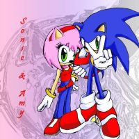 Sonic and Amy by Lancebardock