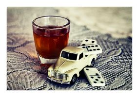 Still Life with Shot Glass, Toy Truck and Dominoes by Prometheus1706