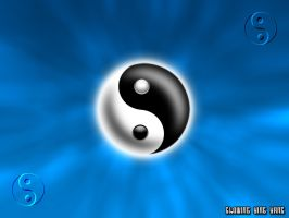 Glowing Ying Yang Blue by dawg4life2k1