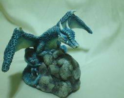 Polymer Clay Dragon by perilousrealms