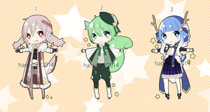 Adoptable Star Seekers 1-3 : AUCTION CLOSED by Haru-run