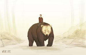Wilde Life - Clifford and the White Faced Bear by Lepas