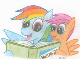 Rainbow Dash and Scootaloo by LordDominic