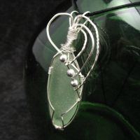 Sterling Green Seaglass Wrap by andrewk1969