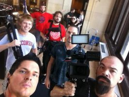 Filming interviews by MJandGhostAdventures